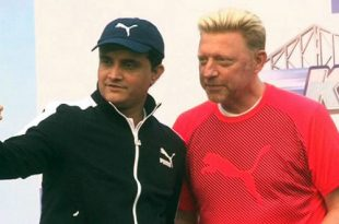 Boris Becker Sourav Ganguly